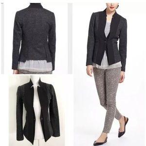 Elevenses wool one button blazer